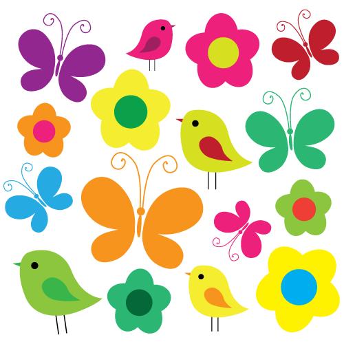 Pássaros e Borboletas
